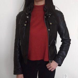 Black noir faux leather jacket